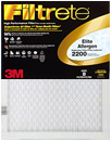 20x20x1 (19.6 x 19.6) Filtrete 2200 Elite Allergen Reduction Filter by 3M