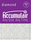 13.25x13.25x0.5 (Actual Size) Accumulair Diamond 1/2-Inch Filter (MERV 13)