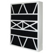20X25X5 (19.88x24.75x4.38) Carbon Odor Block Bryant Replacement Filter w/One .625x1x24.75 Inch Foam Strip Per Filter