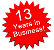 13 Years in Business!