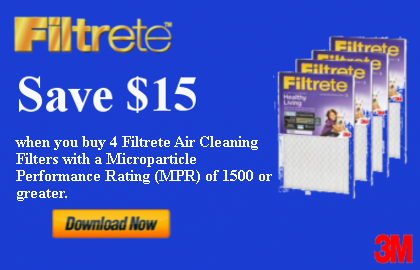 Filtrete Save $15 Promo