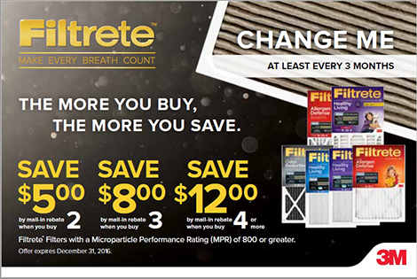 Filtrete™ 2016 Air Filter Promo