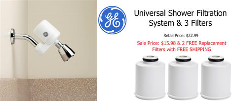 GE Shower Filter System Promotion