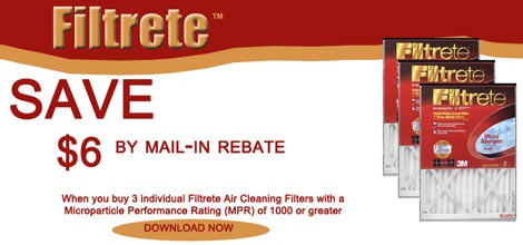 Filtrete Save $6 Promo