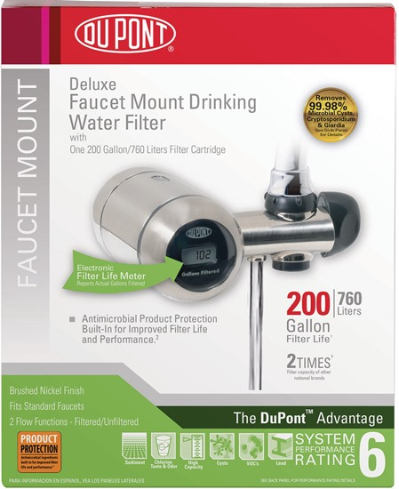 FM350XBN DUPONT Deluxe Faucet Mount Filtration System (Brushed Nickel)