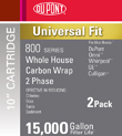 DuPont Universal Whole House 2 Phase Carbon Wrap Cartridge PFC8002 (2 Pack)