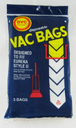 Type U Eureka Vacuum Cleaner Replacement Bag (3 Pack)