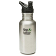 Klean Kanteen 18 oz Classic with Sport Cap - Brushed Stainless