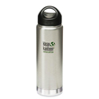 Klean Kanteen® 20 oz  Wide Insulated with Stainless Loop Cap - Brushed Stainless